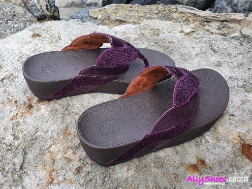 Fitflop, Paisley Rope Toe, Beetroot (size UK 5 only)