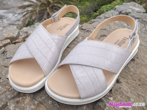 Hotter, Pace, Shell Grey Croc