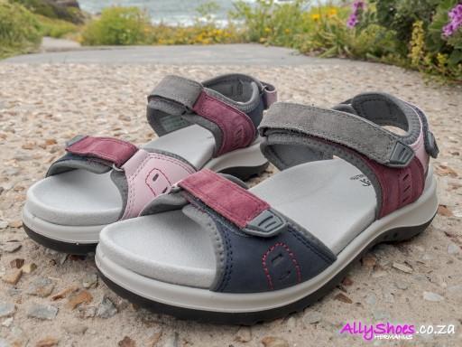 Hotter, Walk II, Mauve Multi, Leather & Suede