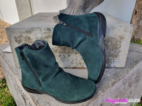 Hotter, Whisper, Forest Green, Suede
