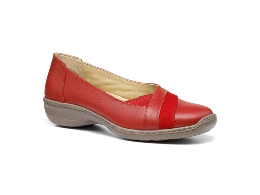 Hotter, Serenity, Cherry Red Multi, Leather & Nubuck