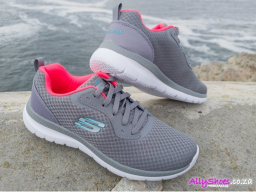 Skechers, Bountiful, Grey/Coral