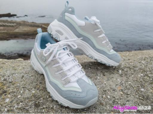 Skechers, D'Lites Sure Thing, Light Blue Grey