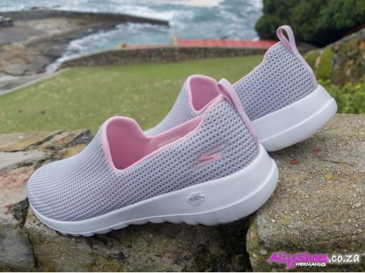 Skechers, Go Walk Joy Centerpiece, Light Grey Pink