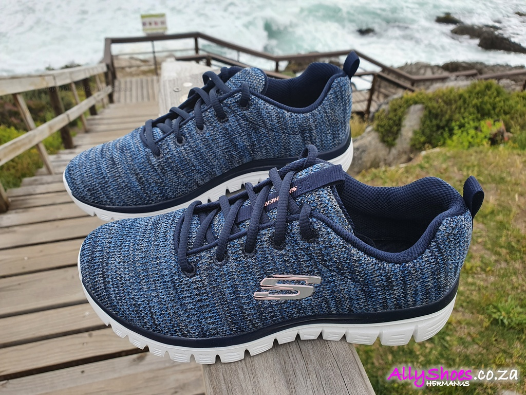 Skechers, Twisted Fortune 12614, Navy Blue