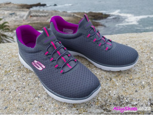 Skechers, Summits, Charcoal/Purple