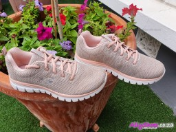 Skechers, Twisted Fortune 12614, Natural Coral